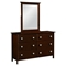 Hugo 6-Drawer Wooden Dresser - Dark Cappuccino - DONC-146-2CP-KD