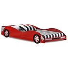 Dresden Twin Size Race Car Bed - Low Profile, Red