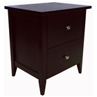 Darian 2-Drawer Night Table - Oval Handles, Dark Espresso