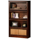 Coastal 4-Tier Lawyer Bookcase - Birch Wood, Glass Doors