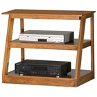 "Adler 30"" Oak Wood TV Stand - Open Back"