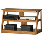 "Adler 42"" Oak Wood TV Stand - Open Back"