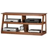 "Adler 55"" Oak Wood TV Stand - Open Back"