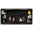 "Coastal Thin 66"" TV Cabinet - 2 Glass Doors"