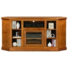 "Coastal Thin 63"" Corner TV Cabinet - Glass Door"