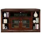 "Coastal Thin 55"" Corner TV Cabinet - 2 Glass Doors"