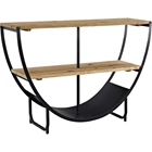 Uplift Rectangular Console Table - Brown, Black