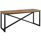 Traverse Rectangular Console Table - Brown, Black