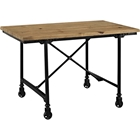 Raise Wood Office Desk - Brown, Black