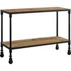 Raise Wood TV Stand - Brown, Black