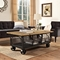 Fairground Rectangular Coffee Table - Brown, Black - EEI-2644-BRN
