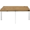 Diverge Square Coffee Table - Brown - EEI-2648-BRN