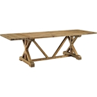 Den Extendable Wood Dining Table - Brown