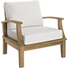 Bayport Outdoor Patio Armchair - Natural, White