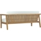 Bayport Outdoor Patio Loveseat - Natural, White - EEI-2696-NAT-WHI