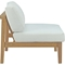 Bayport Outdoor Patio Armless Chair - Natural, White - EEI-2697-NAT-WHI
