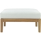 Bayport Outdoor Patio Ottoman - Natural, White - EEI-2698-NAT-WHI