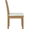 Marina Outdoor Patio Dining Chair - Natural, White - EEI-2700-NAT-WHI