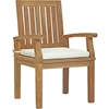 Marina Outdoor Patio Dining Armchair - Natural, White