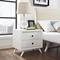 Tracy 2 Drawers Nightstand - White - EEI-5240-WHI