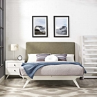 Tracy 2-Piece Platform Bedroom Set - White Frame