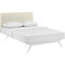 Tracy 2-Piece Platform Bedroom Set - White Frame - EEI-576-5240-WHI-BRS