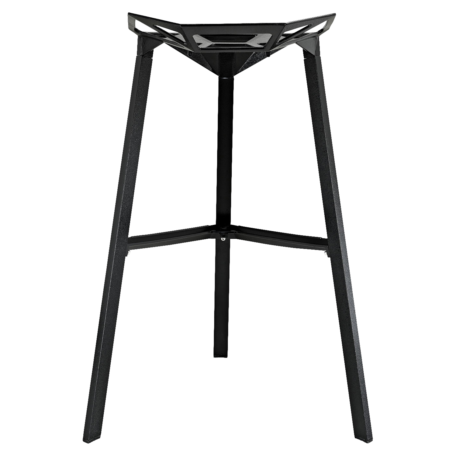 Launch Stacking Bar Stool - Backless, Black (Set of 2) - EEI-1362-BLK