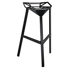 Launch Stacking Backless Bar Stool - Black