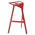 Launch Stacking Backless Bar Stool - Red