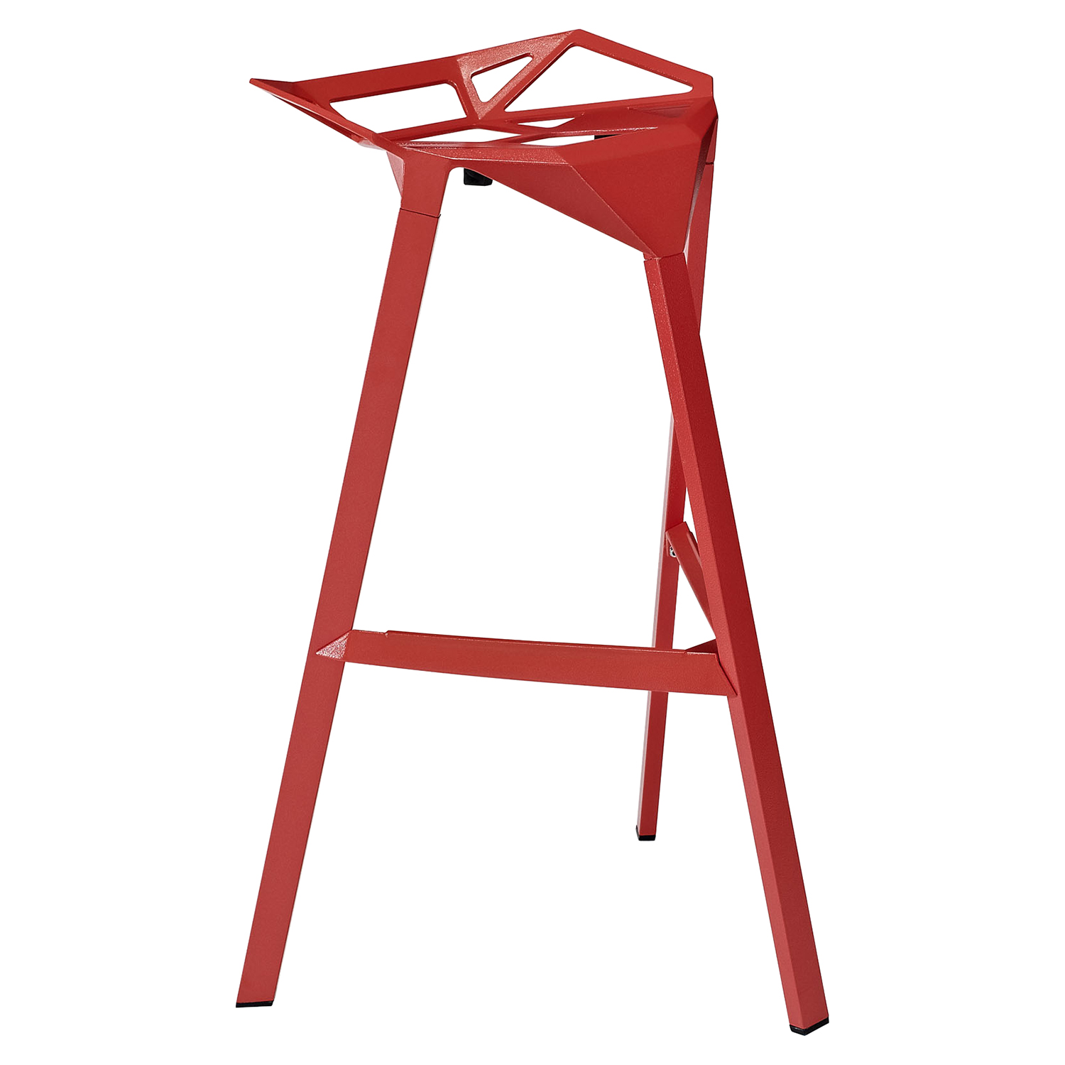 Launch Stacking Backless Bar Stool - Red - EEI-1024-RED