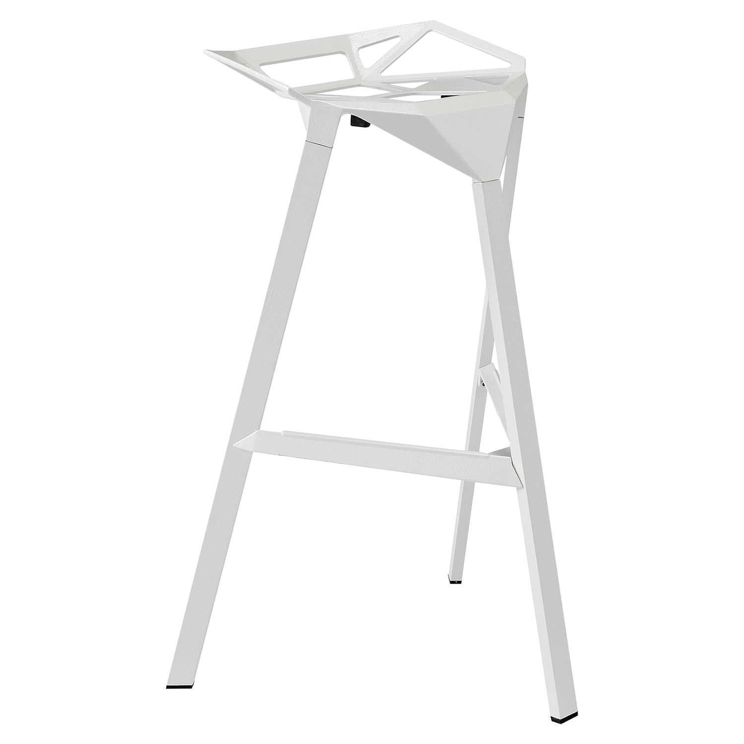 Launch Stacking Backless Bar Stool - White