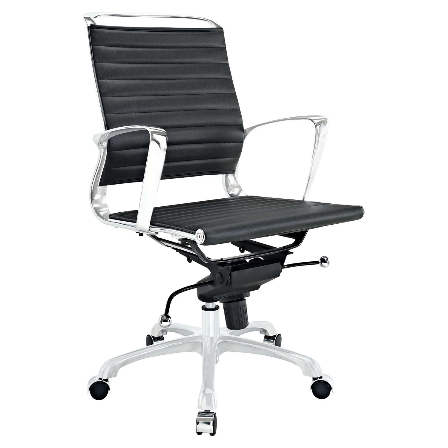 Tempo Mid Back Office Chair - Adjustable Height, Swivel, Armrest