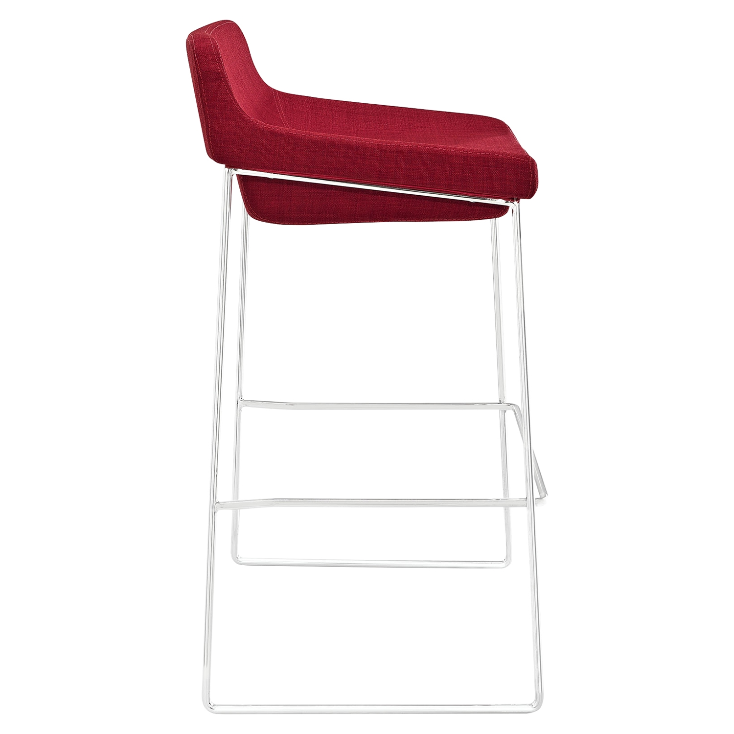 Garner Bar Stool - Backless, Red (Set of 2) - EEI-1364-RED
