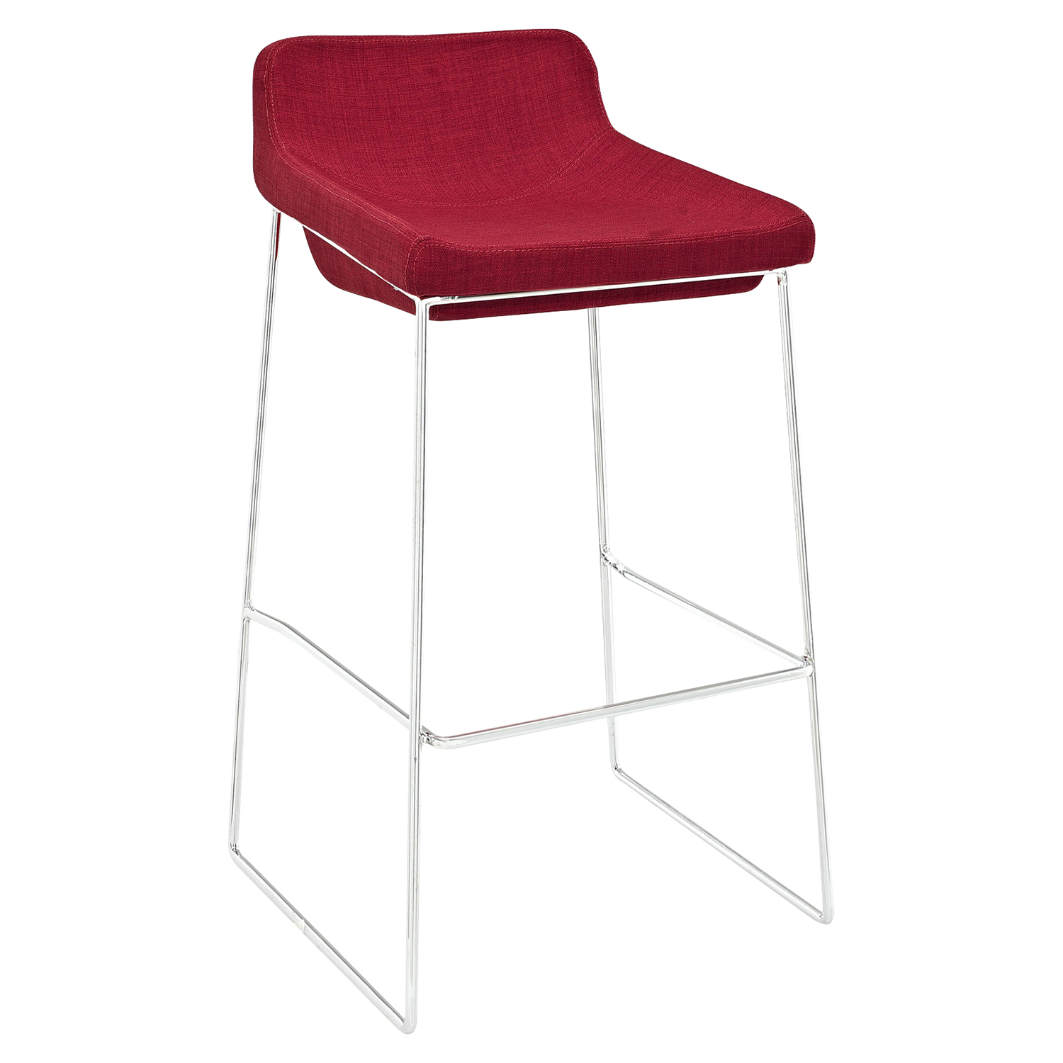 Garner Backless Bar Stool - Red