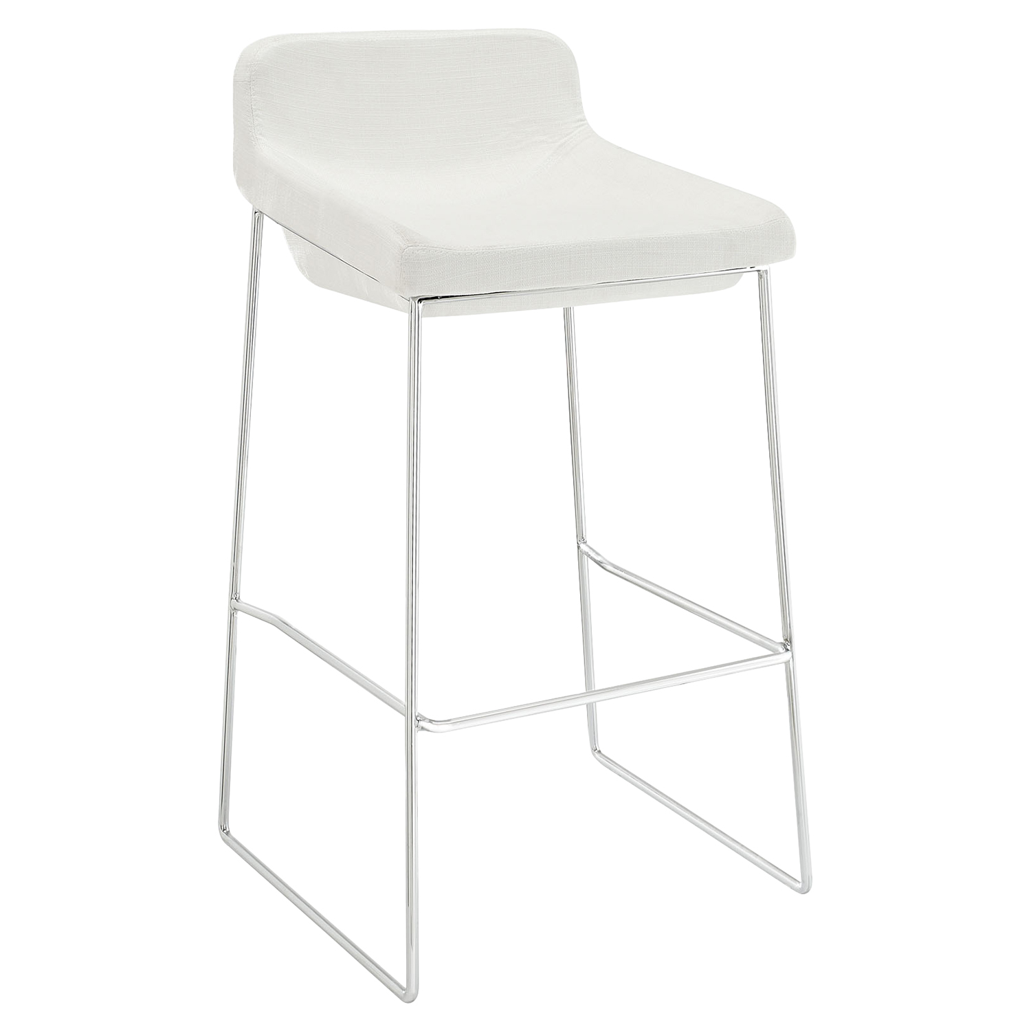 Garner Backless Bar Stool - White