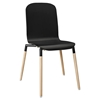 Stack Dining Wood Side Chair - Black