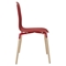Stack Dining Chair - Wood Legs, Red (Set of 2) - EEI-1372-RED