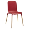 Stack Dining Wood Side Chair - Red