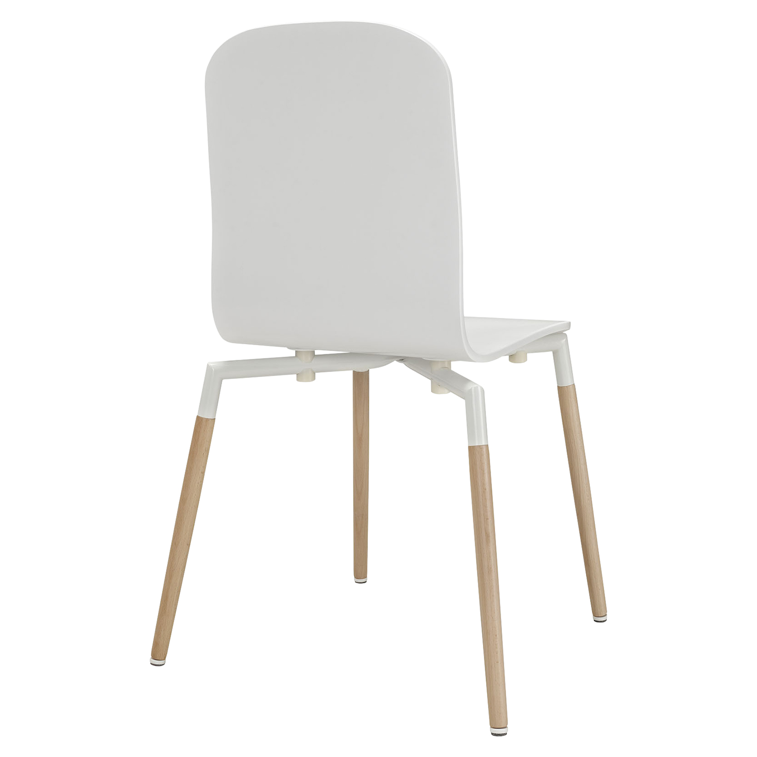 Stack Dining Chair - White (Set of 4) - EEI-1373-WHI