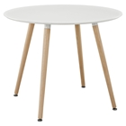 Track Circular Dining Table - White