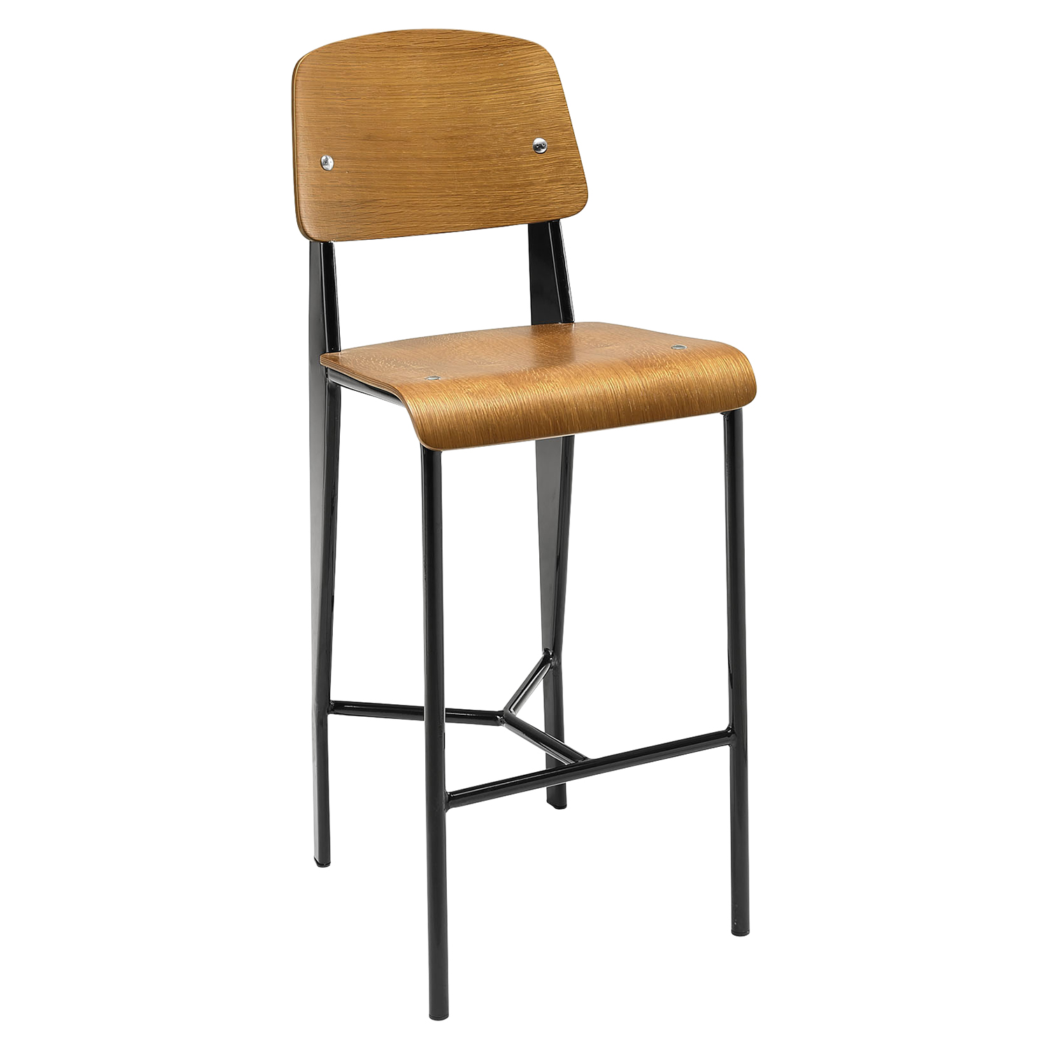 Cabin Counter Stool - Walnut, Black
