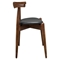 Stalwart Leatherette Dining Side Chair - Dark Walnut, Black (Set of 4) - EEI-1378-DWL-BLK