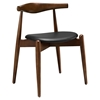 Stalwart Dining Side Chair - Dark Walnut, Black