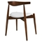 Stalwart Dining Side Chair - Wood Frame, Dark Walnut, White (Set of 2) - EEI-1377-DWL-WHI