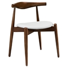 Stalwart Dining Side Chair - Dark Walnut, White