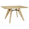 Landing Wood Rectangular Dining Table - Natural - EEI-1087-NAT