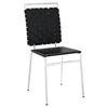 Fuse Leather Look Dining Side Chair - Black