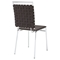 Fuse Leather Look Dining Side Chair - Brown - EEI-1106-BRN