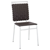 Fuse Leather Look Dining Side Chair - Brown