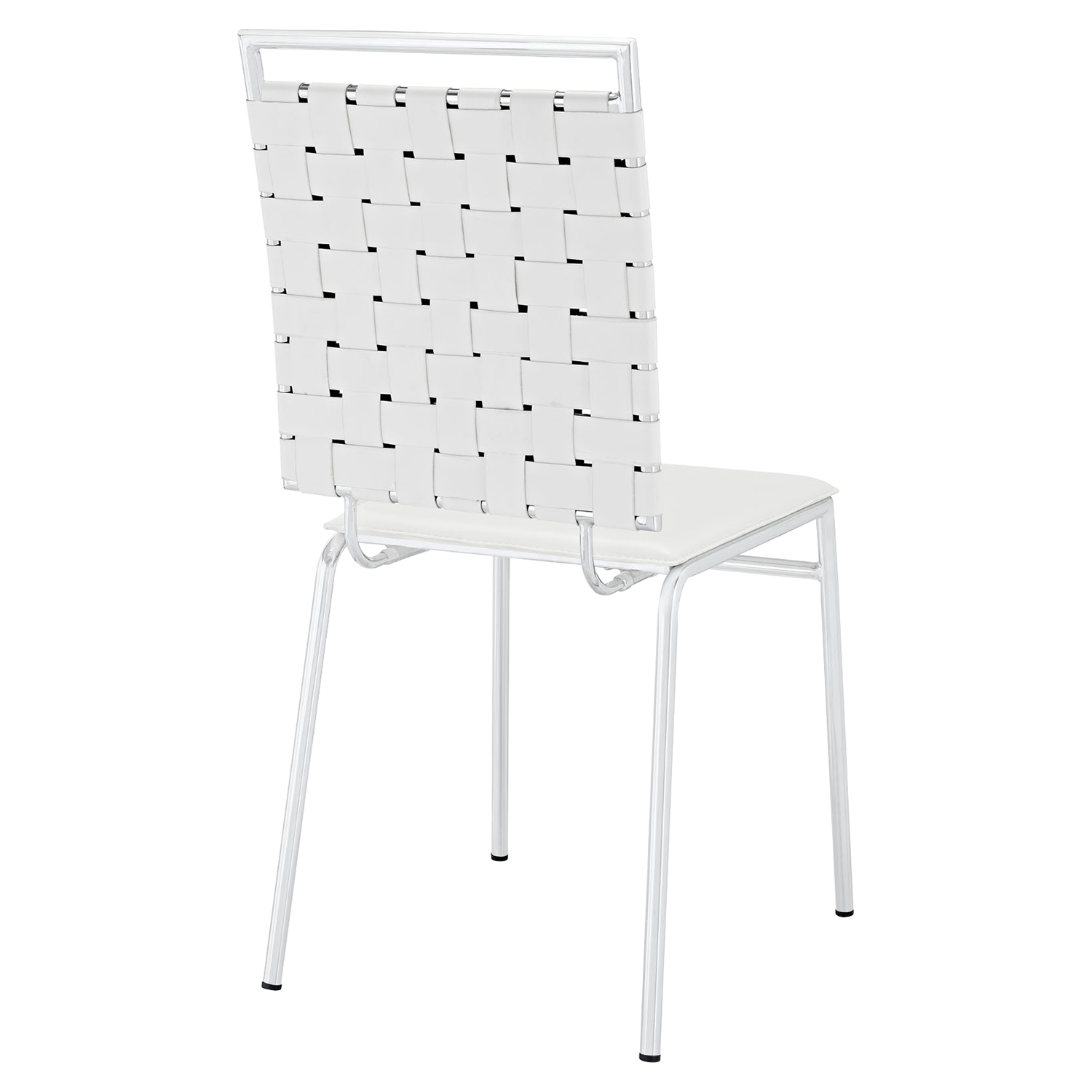 Fuse Leather Look Dining Side Chair - White - EEI-1106-WHI